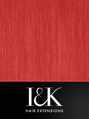 I&K Clip In Human Hair Fringe - Highlight #Red