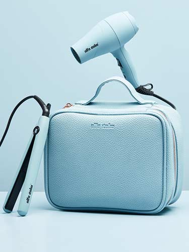 Alfa Italia Viaggio Blue Travel Styling Kit (Hair Dryer and Hair Straightener)