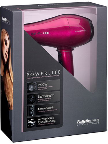 Babyliss Pro Powerlite Dryer (Hot Pink)