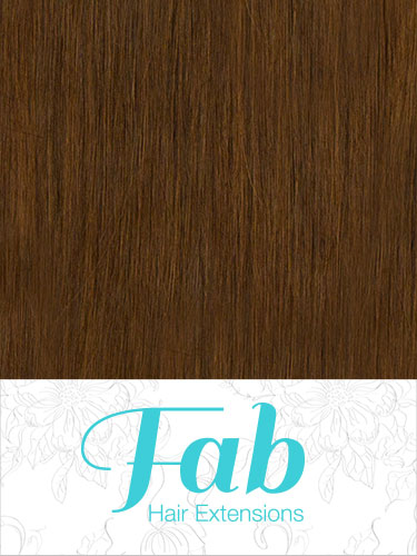 Fab Clip In Remy Hair Extensions - Full Head #6-Medium Brown 20 inch