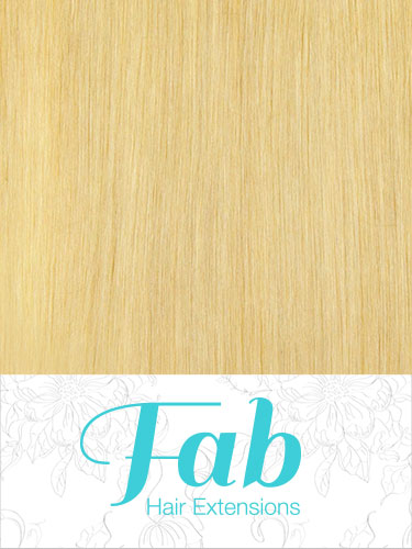 Fab Clip In Remy Hair Extensions - Full Head #613-Lightest Blonde 18 inch