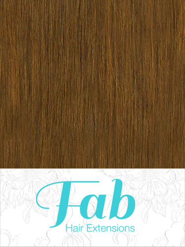 Fab Clip In Remy Hair Extensions - Full Head #8-Light Brown 20 inch