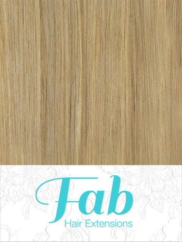 Fab Clip In Remy Hair Extensions - Full Head #10/16-Medium Ash Brown with Medium Blonde 18 inch