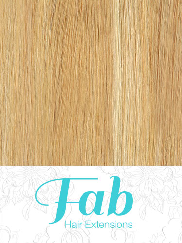 Fab Clip In Remy Hair Extensions - Full Head #12/16/613-Light Golden Brown/Sahara Blonde/Lightest Blonde Mix 26 inch