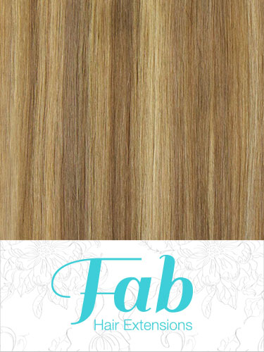 Fab Clip In Remy Hair Extensions - Full Head #18/613-Ash Blonde with Lightest Blonde 18 inch