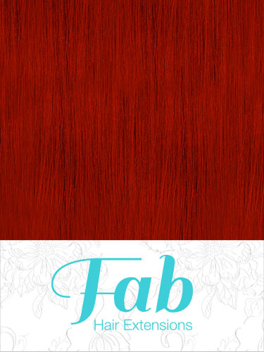 Fab Clip In Remy Hair Extensions - Full Head #Red 18 inch