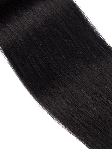 Fab Clip In Remy Hair Extensions - Full Head #1B-Natural Black 26 inch