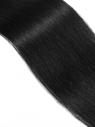 Fab Clip In Remy Hair Extensions - Full Head #1-Jet Black 22 inch
