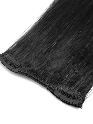 Fab Clip In Remy Hair Extensions - Full Head #1-Jet Black 20 inch