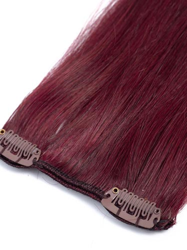 Fab Clip In Remy Hair Extensions - Full Head #99J-Wine Red 15 inch
