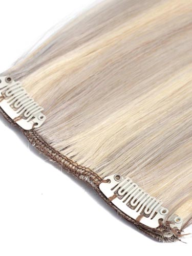 Fab Clip In Remy Hair Extensions - Full Head #Grey Blonde with Lightest Blonde Mix 26 inch