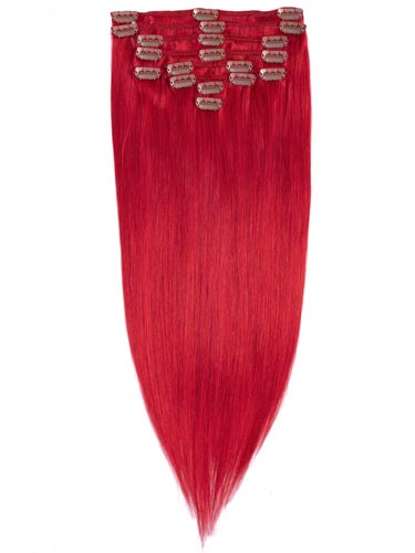 Fab Clip In Remy Hair Extensions - Full Head #Red 26 inch