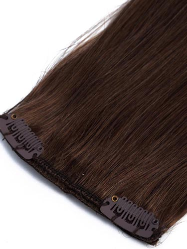 Fab Clip In Remy Hair Extensions - Full Head #T2/30-Dip Dye Darkest Brown to Auburn 15 inch
