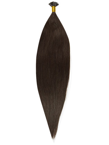 Fab Pre Bonded Flat Tip Remy Hair Extensions #2-Darkest Brown 20 inch 50g