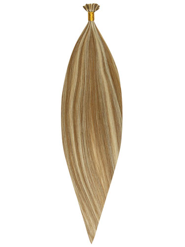 Fab Pre Bonded Flat Tip Remy Hair Extensions #6/60-Medium Brown with Platinum Blonde Highlights 20 inch 100g