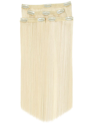 Fab Clip In Lace Weft Remy Hair Extensions - Full Head #1001 20 inch 140g/Twinpack