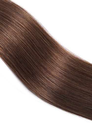 Fab Clip In Lace Weft Remy Hair Extensions (140g) #4-Chocolate Brown 20 inch