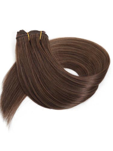 Fab Clip In Lace Weft Remy Hair Extensions (140g) #5-Dark Ash Brown 20 inch
