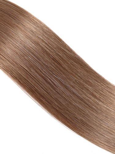 Fab Clip In Lace Weft Remy Hair Extensions (140g) #6-Medium Brown 20 inch
