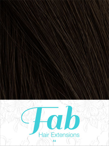 Fab Clip In One Piece Synthetic Hair Extensions - Straight #4-Chocolate Brown 18 inch