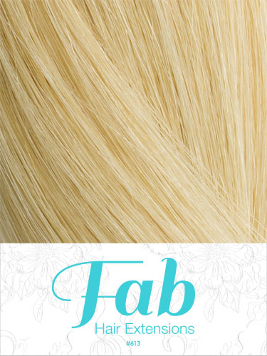 Fab Clip In One Piece Synthetic Hair Extensions - Straight #613-Lightest Blonde 18 inch