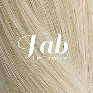 Fab Clip In One Piece Synthetic Hair Extensions - Loose Waves #60-Platium Blonde