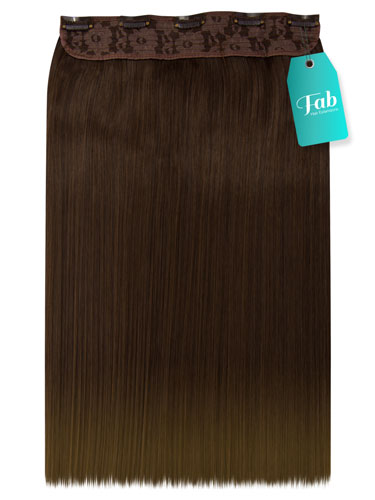 Fab Clip In One Piece Synthetic Hair Extensions - Straight #T16/10 18 inch