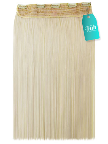 Fab Clip In One Piece Synthetic Hair Extensions - Straight #60-Platium Blonde 18 inch