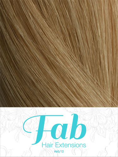 Fab Clip In One Piece Synthetic Hair Extensions - Straight #p60/12 18 inch
