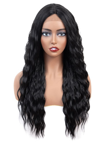 Fab Adella Mermaid Waves Natural Wig #1B-Natural Black