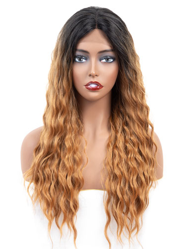 Fab Adella Mermaid Waves Natural Wig #T1B/27-Strawberry Blonde