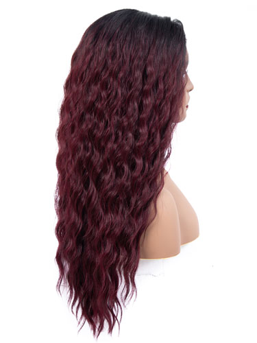 Fab Adella Mermaid Waves Natural Wig #99J-Wine Red