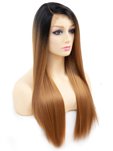 Fab Millie Super Sleek Straight Natural Wig #27-Strawberry Blonde