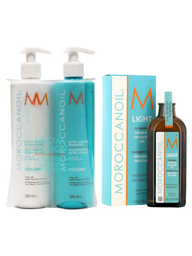 Moroccanoil Extra Volume Pack (2 x 500ml, 1 x 100ml)