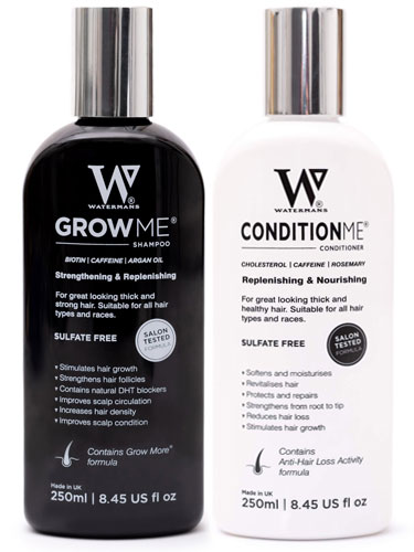 Watermans Grow Me Hair Growth Shampoo (250ml) and Conditioner (250ml) Set
