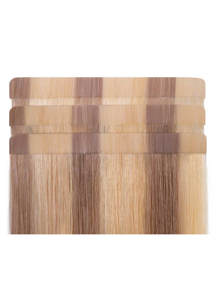 I&K Tape In Hair Extensions (20 pieces x 4cm) #12/16/613 18 inch