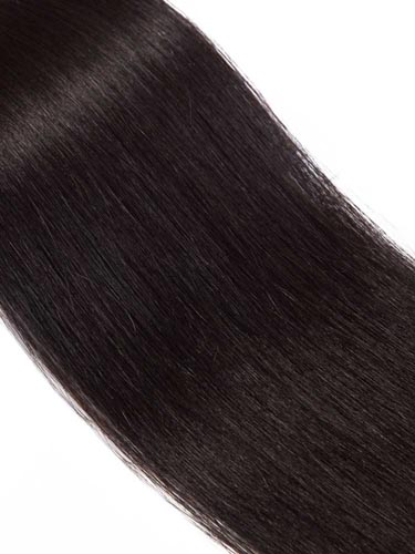 I&K Tape In Hair Extensions (20 pieces x 4cm) #1B-Natural Black 18 inch