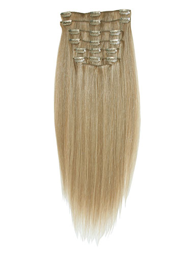 I&K Clip In Human Hair Extensions - Full Head #18/22 18 inch