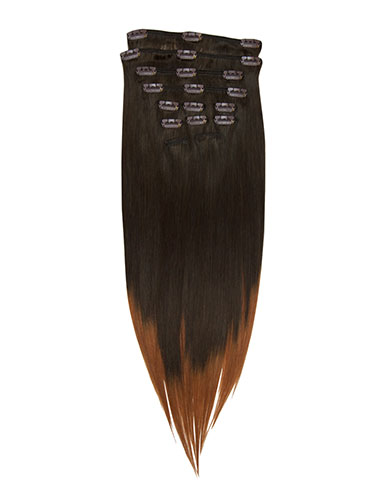 I&K Gold Clip In Straight Human Hair Extensions - Full Head #T2/30 22 inch