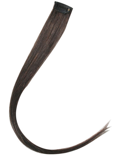 I&K Clip In Human Hair Extensions - Highlights #2-Darkest Brown 18 inch