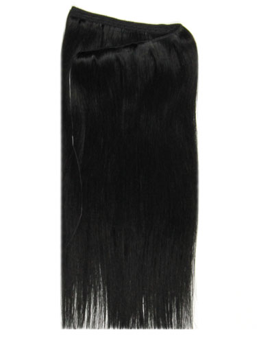 I&K Wire Quick Fit One Piece Human Hair Extensions #1-Jet Black 18 inch