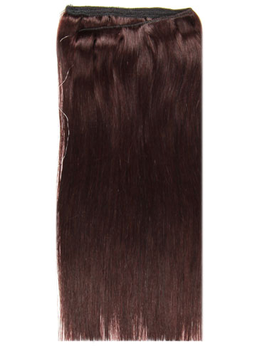 I&K Wire Quick Fit One Piece Human Hair Extensions #32-Dark Reddish Wine 18 inch