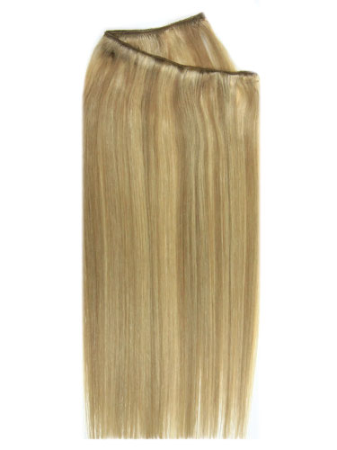 I&K Wire Quick Fit One Piece Human Hair Extensions #12/16/613 18 inch