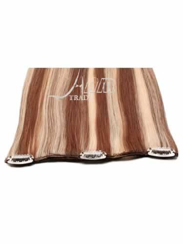I&K Clip In Pick2Fit Human Hair Extensions - 8 Inch Width #6/613 18 inch
