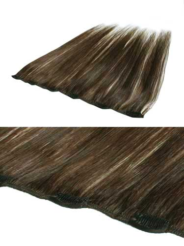 I&K Clip In Human Hair Extensions - Quick Length Piece #3-Dark Brown 18 inch
