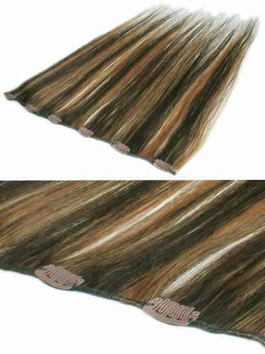 I&K Clip In Human Hair Extensions - Quick Length Piece #2/27 18 inch