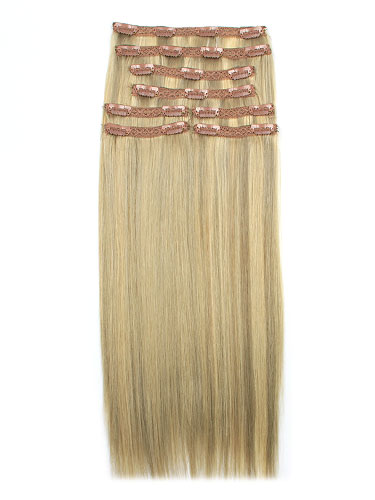 I&K Remy Clip In Hair Extensions - Full Head #18/22 18 inch