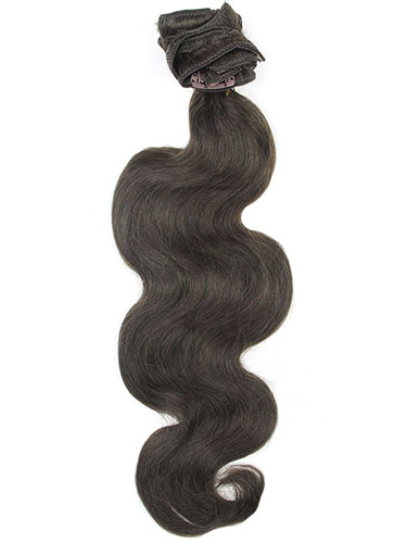 I&K Clip In Human Hair Extensions - Body Wave - Full Head