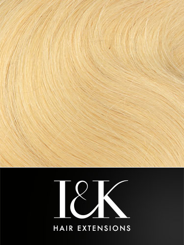 I&K Gold Clip In Body Wave Human Hair Extensions - Full Head #22-Medium Blonde 18 inch