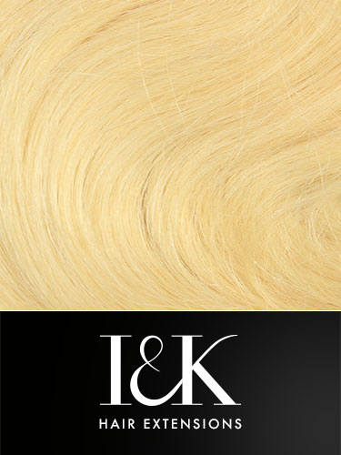 I&K Gold Clip In Body Wave Human Hair Extensions - Full Head #24-Light Blonde 22 inch